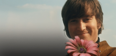 John Lennon with Flower