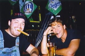 (Left to right): Musician/bartender/neophyte filmmaker Troy Duff