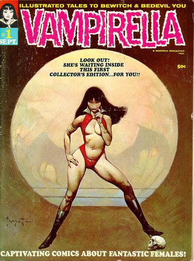 Vampirella _1 cover Forrest J Ackerman Frank Frazetta